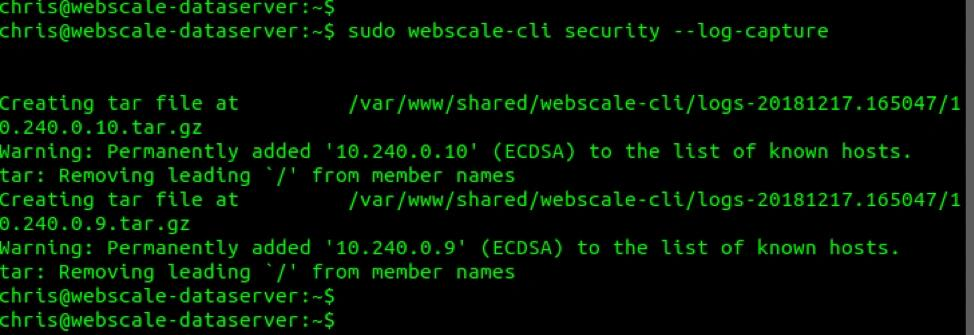 webscale-cli-log-capture